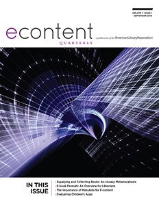 Cover image, eContent Quarterly, Issue One