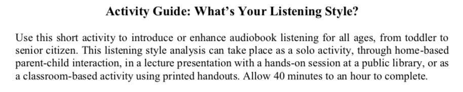 Audiobooks – No Shelf Required