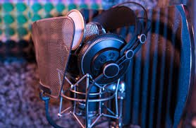 photo of recording studio equipment